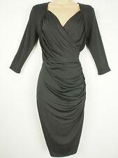 BNWT Savoir Confident Curves Secret Support Black Wrap Effect Dress Size 18