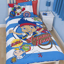 Disney Jake And The Neverland Pirates Boys Single Duvet Quilt Cover Bedding Set