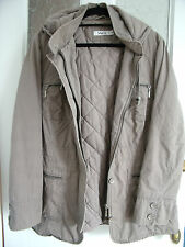 M & CO Padded Lt Brown Hooded Parker Style Winter Coat Size 16