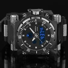 INFANTRY MENS DIGITAL QUARTZ WRIST WATCH AVIATOR MILITARY SPORT BLACK WATERPROOF