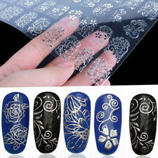 Fashion 3D Silver Flower 108Pcs Nail Art Stickers  Stamping DIY Decoration Tools