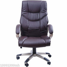 HOMCOM Executive Office Chair Swivel Home Computer Leather Ergonomic High-back