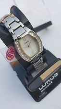 =    NEW LORUS WOMEN'S SILVER TONE  WITH CRYSTALS WATCH    =
