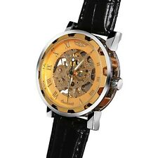 Men's Watch Cool Classic Analog Display Mechanical Steampunk Skeleton Sports New