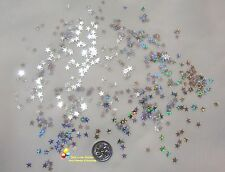 Wedding Table Scatters Foil Confetti Stars Holographic - Silver