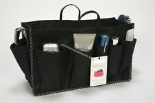 Medium Handbag Bag Organiser, Black Insert, Liner Organizer With 14 Compartments