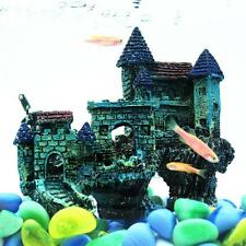 Aquarium Decoration Ornament Castle Tower House Resin Fish Tank Stone Cave Decor