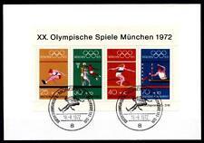 Olympische Sommerspiele, München. Ersttagskarte, München. Block. BRD 1972