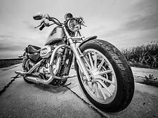 SUPERB HARLEY DAVIDSON MOTORCYCLE CANVAS #553 QUALITY BIKE A1 PICTURE WALL ART