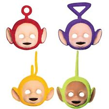 TELETUBBIES CARD FACE PARTY MASKS * 4 BIRTHDAY PARTY