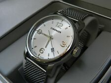 Wenger mens/ladies watch urban metropolitan101.126 steel case and mesh strap NEW