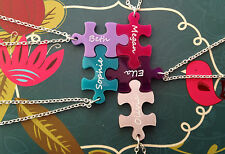 Friends jigsaw piece necklaces, personalised, gift for girls, party bag
