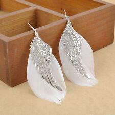 Vintage Women Angel Wing Feather Dangle Long Earring Chandelier Drop Earrings