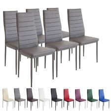 6 x Esszimmerstühle MILANO - grau - Esszimmerstuhl Küchenstuhl Stuhl Stühle