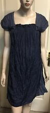 Silk Cotton Metal Shift Dress In An M Lined By Body