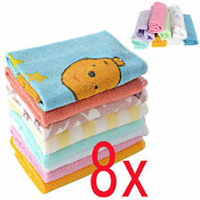 GOOD New Soft 8Pcs/Pack Baby Face Washers Hand Towels Cotton Wipe Wash Cloth
