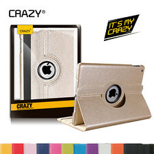 iPad Mini 1 2 3 Case For Apple - Premium PU Leather Rotating Smart cover case