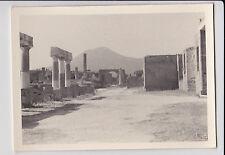 schönes altes Foto 7x10cm Forum von Pompeji Vesuv Italien