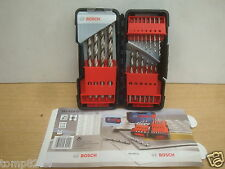 BOSCH 18PCE HSS-G METAL DRILL BIT SET + TOUGH BOX 2 607 019 578 + 6 PENCILS