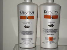 Kerastase 1L Nutritive Irisome Bain Satin 1 Shampoo+Lait Vital Conditioner Litre