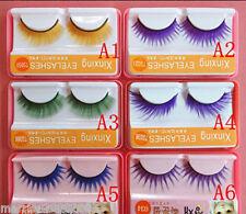 Quality Colourful Black Fashion False Fake Eyelashes For Costume Party Need