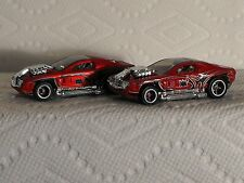 HOT WHEELS ACCELERACERS HOLLOW BACK -USED RED GLOSS AND SATIN FINISH