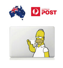 "2x Homer Simpson Apple MacBook Air/Pro 13"" Sticker Decal Vinyl Skin STOCK NOW"