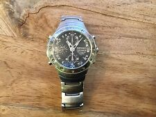 MENS SEIKO PREMIER CHRONOGRAPH 100M SPORTS WATCH - STAINLESS STEEL (Not Working)