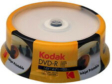 100 Kodak DVD-R full printable 4.7GB 120Min 16x Spindel