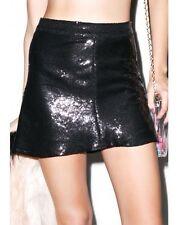 Wildfox Couture ~ Lula Black Sequin Skirt 12 ~ RRP $335 A-line Sparkly Mini