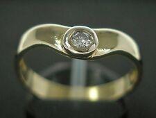 Goldring in 14k. 585 Gold Brillantring mit Brillantsolitär Brillant Diamond Ring