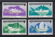 Hongkong 1986 ** Mi.491/94 Schiffe Boote Ships Fischerei Fishing Vessel