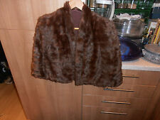 Vintage 1930s  Ladies  Fine Quality Brown Fur Cape  or Stole