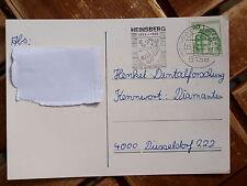 Alte Postkarte mit Sonderstempel  125 Jahre Heinsberg