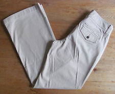 NEW LADIES - SIZE UK 8 / US 4 - TOMMY HILFIGER CREAM SOFT TROUSERS