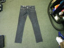 "River Island Skinny Jean Jeans Size 12L Leg 32"" Faded Dark Blue Ladies Jeans"