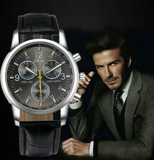 Men's/Teenagers Tachymeter Chronograph Designer Sports Watch With Leather Strap