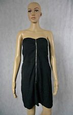 **AVOCADO** Black Tube Dress 10 Zipper M Boob Strapless Summer Fitted Sexy Top