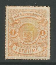 LUXEMBOURG. 1867. 1c Orange, Rouletted in Colour. SG: 21. Fresh Mint Hinged.