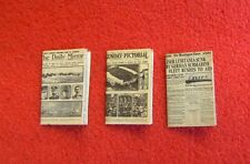 Dolls House Miniature 1:24th Scale set of 3 Newspapers (S3)