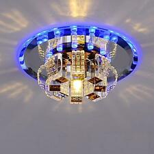 Modern LED Crystal Ceiling Blue Light Pendant Lamp Fixture Chandelier Home Decor