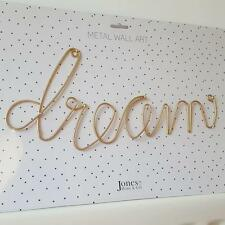 GOLD DREAM METAL WORD WALL ART CHIC N SHABBY PLAQUE SIGN