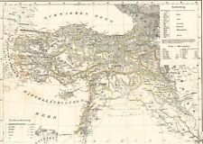 Echte 174 Jahre alte Landkarte TÜRKEI Osmanlı İmparatorluğu Türk Suriye 1842
