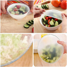 New! 4X Silicone Wrap Seal Cover Stretch Cling Film Kitchen Tool Food Fresh Keep