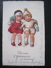 AK Glückwunschkarte zum Geburtsttag gelaufen 1932 (P 142)