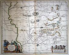 UNGARN Südosten Landkarte Kupferstich um 1660 - schönes Original!