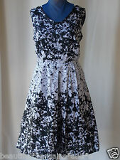 NWT Womens Lined 100% COTTON Dress L Size 16 Vintage Rockabilly Swing Ladies NEW