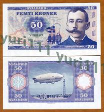 Svalbard (Norway), 50 Kroner, 2015, Private Issue, UNC   Amundsen