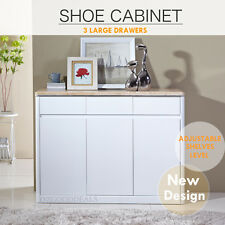 New 1200mm High Gloss White Finish Storage Shoe Cabinet Marble Like Top 4042