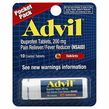 Advil Pain Reliever 200mg Tablets Pocket Pack 10 count